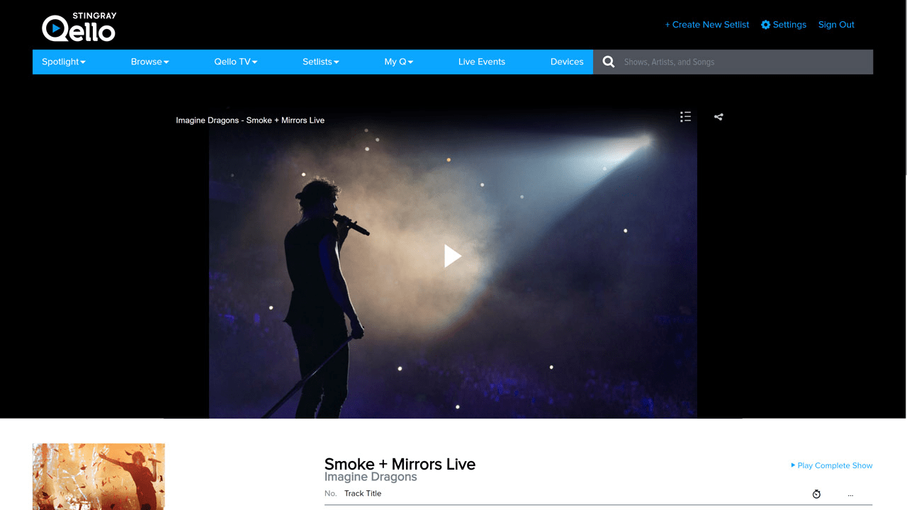 Stingray Qello – Your Front Row Ticket to Recorded Concerts