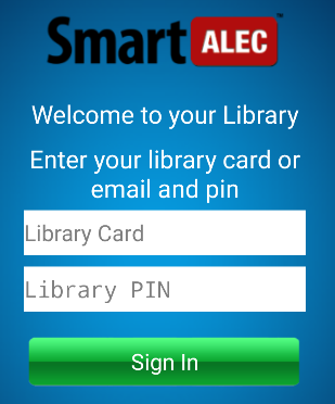 SmartAlec app login screen