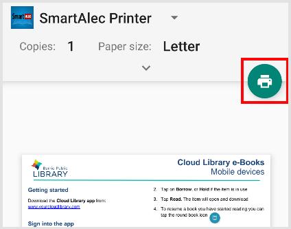 smartALEC printer snippet