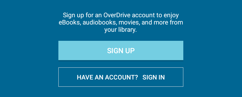 Screenshot of option to Sign In to Overdrive