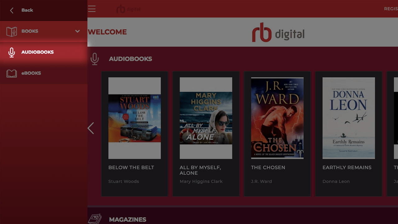 screenshot audiobooks sub menu tab