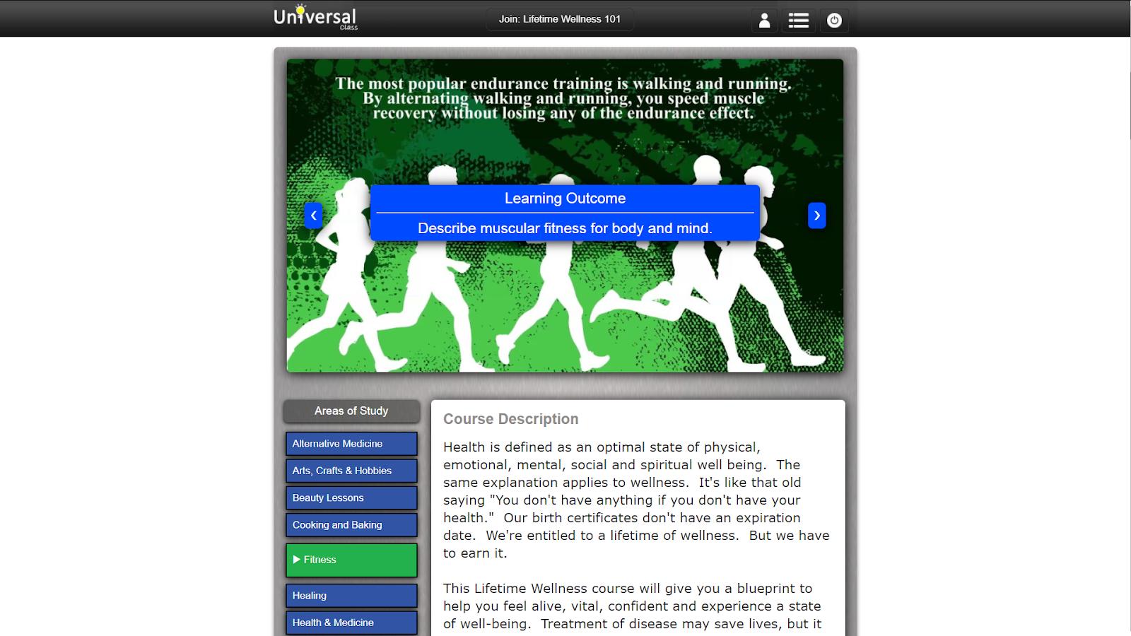 screenshot learning outcome