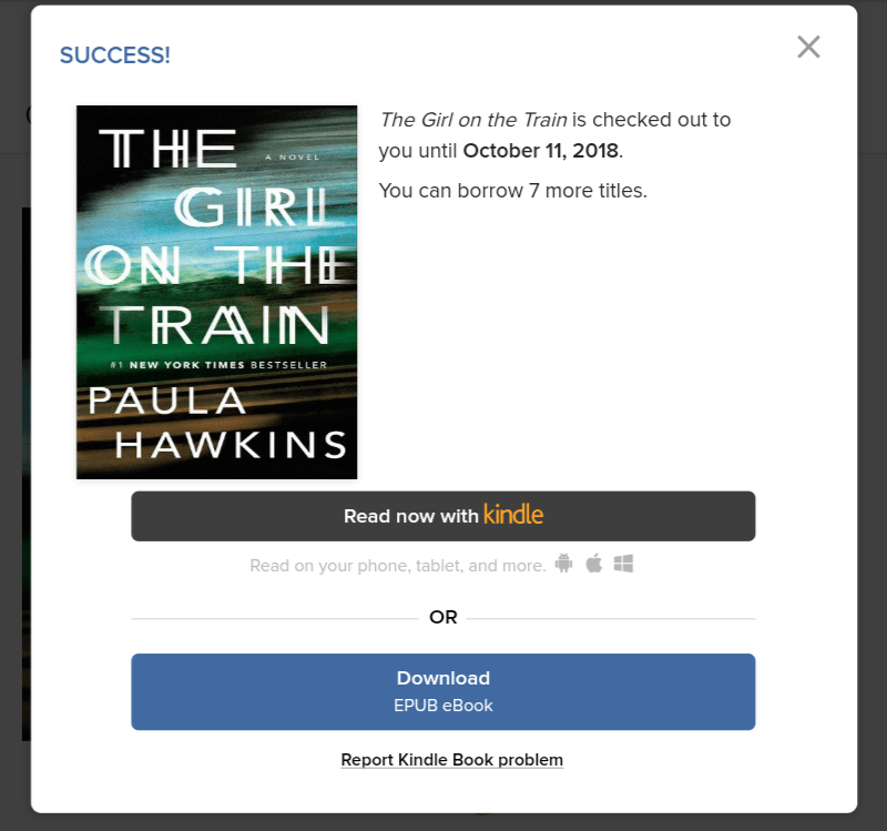 Screenshot with options to Read Now or Download a book