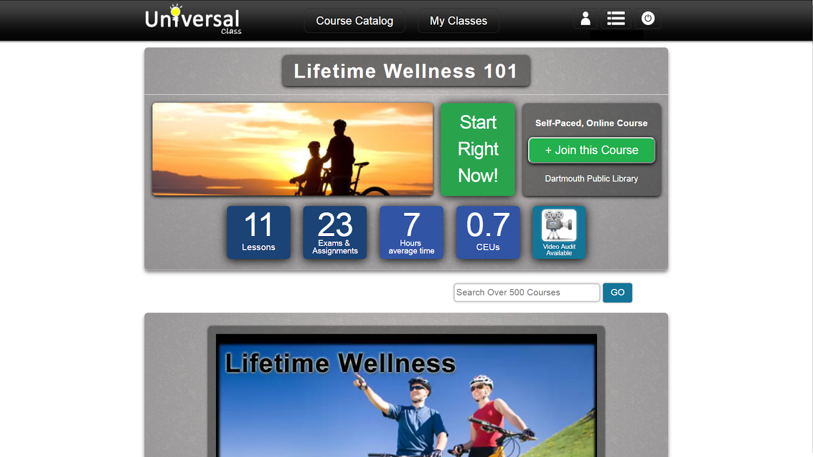 screenshot lifetime wellness 101 class